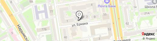 Семена-Центр на карте Новосибирска