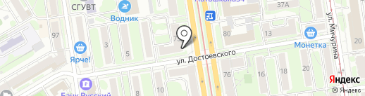 Элегия на карте Новосибирска