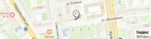 100 граммъ на карте Новосибирска