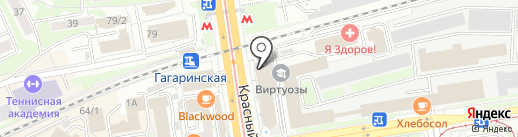А1 на карте Новосибирска