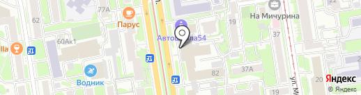Спасение на карте Новосибирска