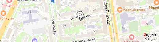 Центр страхования на карте Новосибирска