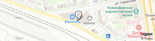 Кока-Кола ЭйчБиСи Евразия на карте Новосибирска
