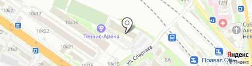 Байкалэко на карте Новосибирска