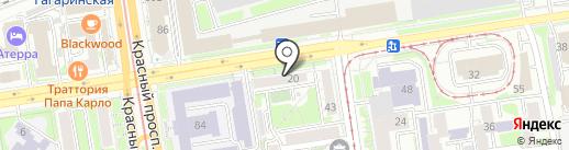 Исход на карте Новосибирска