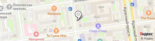 ДУША TATTOO COLLECTIVE на карте Новосибирска