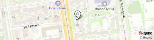Helix на карте Новосибирска