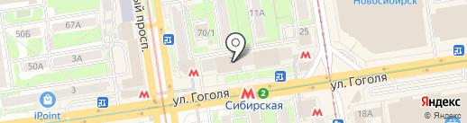 Mix на карте Новосибирска