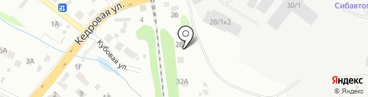 АвтоВозим на карте Новосибирска