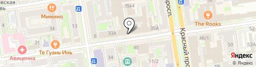 #Неори на карте Новосибирска