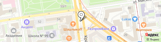 Бьютик на карте Новосибирска
