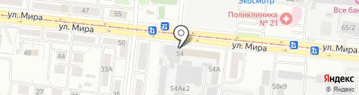 Парус на карте Новосибирска