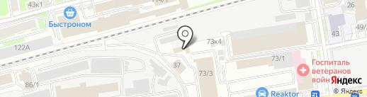 АСТО на карте Новосибирска