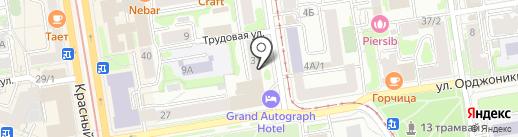 Лапушка на карте Новосибирска