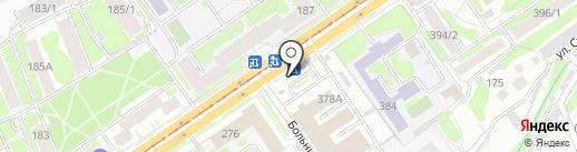 Дядя Дёнер на карте Новосибирска