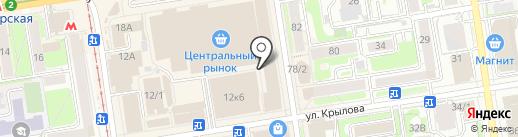 Мастерская по изготовлению ключей на карте Новосибирска