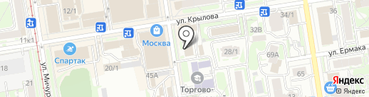 БИНБАНК, ПАО на карте Новосибирска