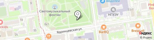 54 на карте Новосибирска