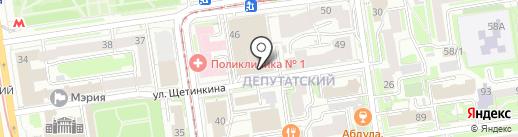 Сибирские карьеры на карте Новосибирска