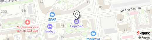 CHERDAK на карте Новосибирска
