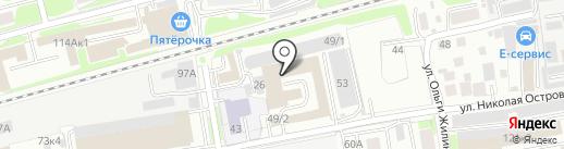 Либерти на карте Новосибирска