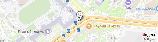 Хот-дог Мастер на карте Новосибирска