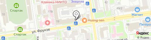 СушиДаПицца на карте Новосибирска