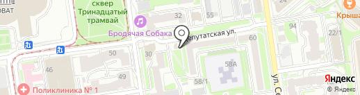 Продовольственный магазин на карте Новосибирска