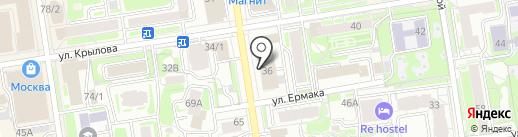 Ассоциация профессиональных строителей Сибири на карте Новосибирска