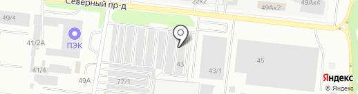Подсолнух на карте Новосибирска