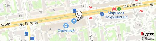 Банкомат, Банк ФК Открытие, ПАО на карте Новосибирска