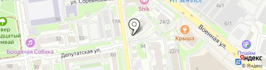 АкадемИнвест на карте Новосибирска
