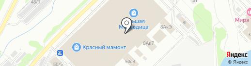 Алталия на карте Новосибирска