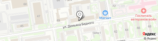 БК на карте Новосибирска