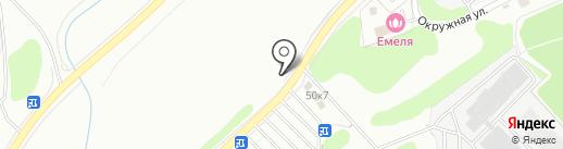 Пиломаркет на карте Новосибирска