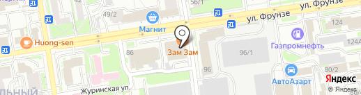 АВЕДА на карте Новосибирска