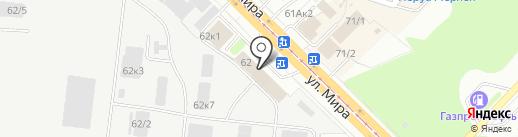 Бентакс на карте Новосибирска