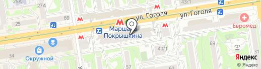 Хорошава на карте Новосибирска