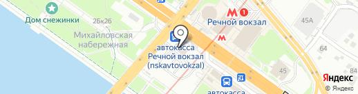 Магазин фастфудной продукции на карте Новосибирска