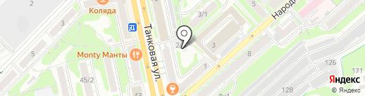 М2 Менеджмент на карте Новосибирска