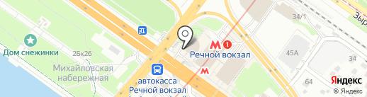 Кафе на карте Новосибирска