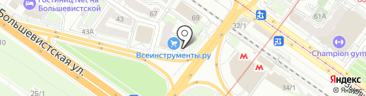 БКДП на карте Новосибирска