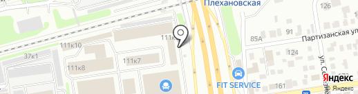 СИЗАН на карте Новосибирска