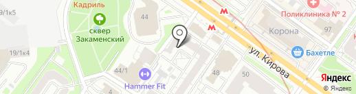 ЮРИДИЧЕСКАЯ ПОМОЩЬ на карте Новосибирска