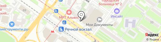 Эскор на карте Новосибирска
