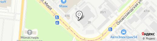 Пеликан-НСК на карте Новосибирска