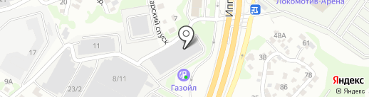 Эклиптика на карте Новосибирска