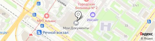 Таларии на карте Новосибирска