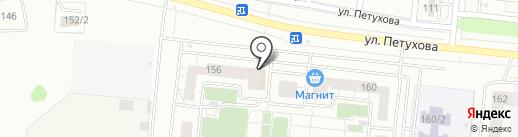 Плутто на карте Новосибирска