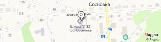 Средняя общеобразовательная школа №32 на карте Сосновки